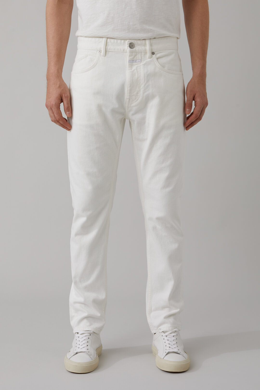 Cooper Tapered White Denim